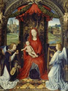 Virgin and Child with Two Angels by Hans Memling