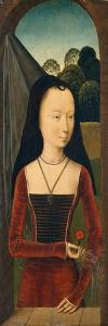 Young Woman with a Pink, c.1485-90 by Hans Memling