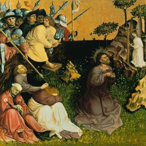 The Agony in the Garden. the Wings of the Wurzach Altar, 1437 by Hans Multscher