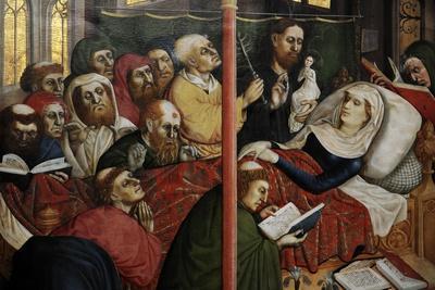 Wurzach Altarpiece, 1437. the Death of the Virgin by Hans Multscher (1400-1467)