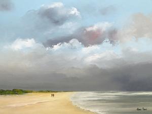 A Walk Along The Beach 8 by Hans Paus
