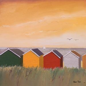 Colorful Beach Huts by Hans Paus
