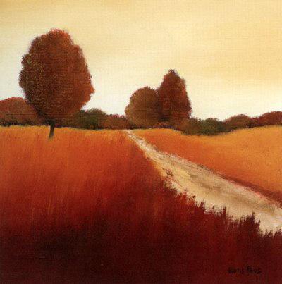 Scarlet Landscape I
