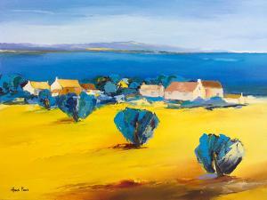 Village At The Lake 1 by Hans Paus