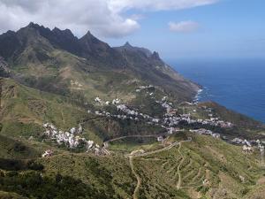 Anaga Mountains and Almaciga, Tenerife, Canary Islands, Spain, Atlantic, Europe by Hans Peter Merten