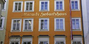 Birthplace of Mozart, Getriedegasse, Salzburg, Austria, Europe by Hans-Peter Merten