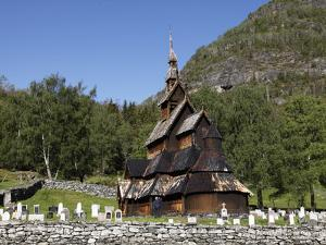 Borgund Stave Church, Sogn Og Fjordane, Norway, Scandinavia, Europe by Hans Peter Merten