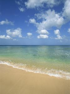 Calm Water on Beach at Paynes Bay, Barbados, West Indies, Caribbean, Central America by Hans Peter Merten