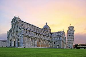 Campo dei Miracoli with Santa Maria Assunta Cathedral and Leaning Tower, UNESCO World Heritage Site by Hans-Peter Merten
