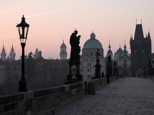 Charles Bridge, UNESCO World Heritage Site, Old Town, Prague, Czech Republic, Europe by Hans Peter Merten