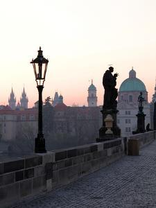 Charles Bridge, UNESCO World Heritage Site, Old Town, Prague, Czech Republic, Europe by Hans Peter Merten