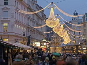 Christmas Decoration at Graben, Vienna, Austria, Europe by Hans Peter Merten