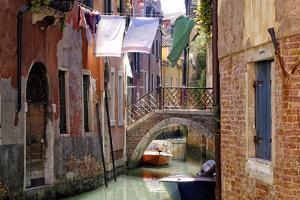 Clothes lines, Venice, UNESCO World Heritage Site, Veneto, Italy, Europe by Hans-Peter Merten