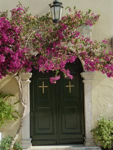 Doorway of Paleokastritsa Monastery, Corfu, Ionian Islands, Greek Islands, Greece, Europe by Hans Peter Merten
