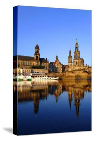 Elbe River and Old Town skyline, Dresden, Saxony, Germany, Europe