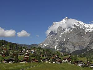 Grindelwald and Wetterhorn, Bernese Oberland, Swiss Alps, Switzerland, Europe by Hans Peter Merten