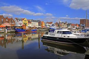 Harbour of Husum, Schleswig-Holstein, Germany, Europe by Hans-Peter Merten