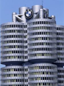 Headquarters of Bmw, Munich, Bavaria, Germany by Hans Peter Merten