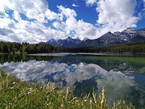 Herbert Lake and Bow Range, Banff National Park, UNESCO World Heritage Site, Alberta, Rocky Mountai by Hans Peter Merten