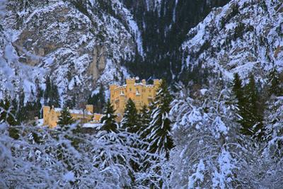 Hohenschwangau Castle near Schwangau, Allgau, Bavaria, Germany, Europe
