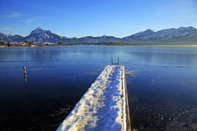 Lake Hopfensee, Hopfen am See, Allgau, Bavaria, Germany, Europe