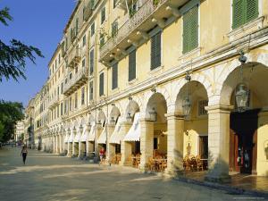 Liston Arcades, Corfu Town, Corfu, Ionian Islands, Greece, Europe by Hans Peter Merten