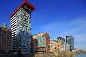 Media Harbour in Dusseldorf, North Rhine-Westphalia, Germany, Europe by Hans-Peter Merten