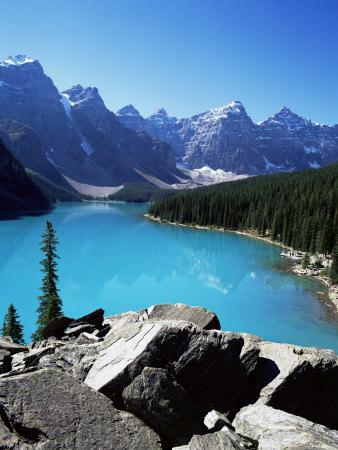 Moraine Lake, Valley of the Ten Peaks, Banff National Park, Rocky Mountains
