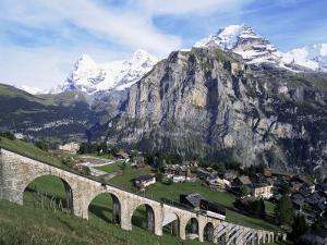 Murren, Eiger, Monch and Jungfrau, Bernese Oberland, Switzerland by Hans Peter Merten