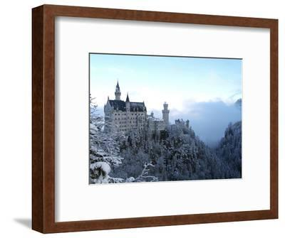 Neuschwanstein Castle in Winter, Schwangau, Allgau, Bavaria, Germany, Europe