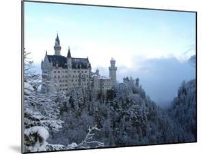Neuschwanstein Castle in Winter, Schwangau, Allgau, Bavaria, Germany, Europe by Hans Peter Merten