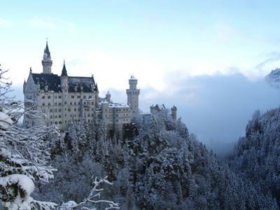 Neuschwanstein Castle in Winter, Schwangau, Allgau, Bavaria, Germany, Europe by Hans Peter Merten