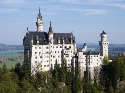 Neuschwanstein Castle, Schwangau, Allgau, Bavaria, Germany, Europe
