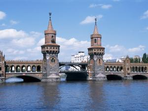 Oberbaum Bridge and River Spree, Berlin, Germany by Hans Peter Merten