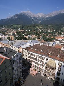 Old Town with Goldenes Dachl, Innsbruck, Austria by Hans Peter Merten