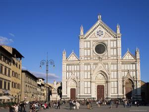 Piazza Santa Croce, Florence, Tuscany, Italy by Hans Peter Merten