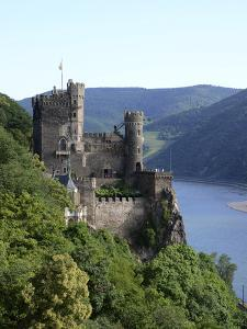 Rheinstein Castle Near Trechtingshausen, Rhine Valley, Rhineland-Palatinate, Germany, Europe by Hans Peter Merten