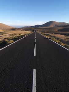 Road Near La Pared, Fuerteventura, Canary Islands, Spain, Europe by Hans Peter Merten