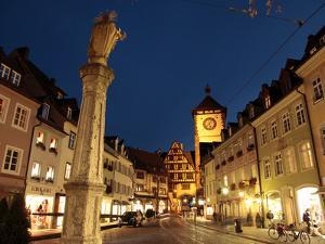 Salzstravue and Schwabentor, Old Town, Freiburg, Baden-Wurttemberg, Germany, Europe by Hans Peter Merten