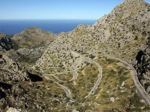 Serpentine Road to Sa Calobra, Mallorca, Balearic Islands, Spain, Mediterranean, Europe by Hans Peter Merten