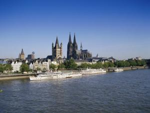 The Cathedral and River Rhine, Cologne, North Rhine Westphalia, Germany by Hans Peter Merten