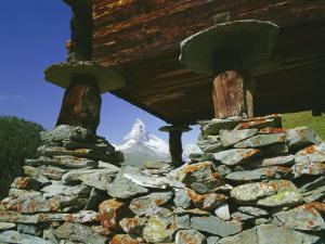 The Matterhorn Mountain (4478M) from Findeln, Valais (Wallis), Swiss Alps, Switzerland, Europe by Hans Peter Merten