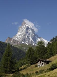 The Matterhorn Near Zermatt, Valais, Swiss Alps, Switzerland, Europe by Hans Peter Merten
