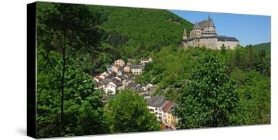 Vianden Castle in the canton of Vianden, Grand Duchy of Luxembourg, Europe
