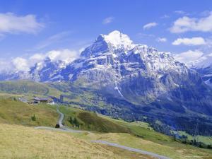 View From Grindelwald Frist To Wetterhorn Bernese Oberland Swiss Alps Switzerland