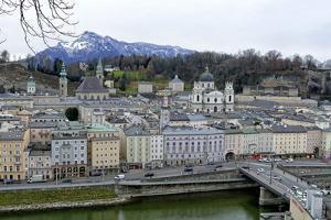 View towards the old town, Salzburg, Austria, Europe by Hans-Peter Merten