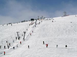 Winter Sports at Feldberg, Black Forest, Baden-Wurttemberg, Germany, Europe by Hans Peter Merten