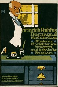 German Advertisement for an Office Furniture Handler in Dortmund, Printed by Hollerbaum and… by Hans Rudi Erdt