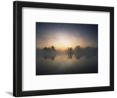 Morning Mist and Sunrise along Wetlands
