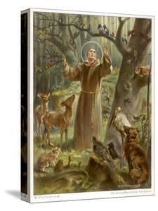 Saint Francis of Assisi, Preaching to the Animals by Hans Stubenrauch